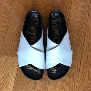 Sam Edelman Adora sandals white leather slide sz 9